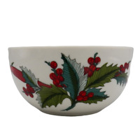 Martha Stewart HOLIDAY GARDEN Jam Dip Bowl Serving Nuts Christmas Holly Berry