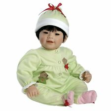 "Adora 20"" BABY PLAY DOLL DOLLY DANCE Asian Boy Green Outfit Black Hair Bear NEW"