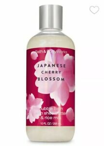Bath and Body Works JAPANESE CHERRY BLOSSOM Shea Butter Bubble Bath ~10 fl.oz.