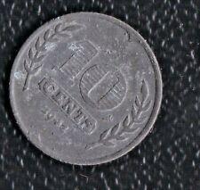 NETHERLANDS 10 CENTS 1942 ZINC