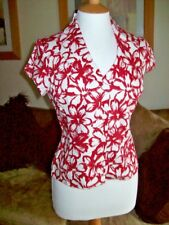 Alex & Co BNWT Red & White Tailored Blouse UK 8 £59.99