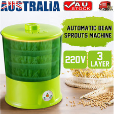 AU 3-layers PTC Bean Sprouts 220v Homemade Multifunction Automatic Machine Green