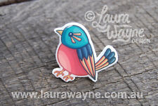 Pink Robin Bird Lapel Pin Brooch Handmade -Birdie Badge Pins Animal Cute Cartoon