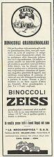 W3213 Binoccoli grandangolari CARL ZEISS - Pubblicità 1930 - Advertising