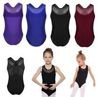 Kid Girl Dance Leotard Dress Gymnastics Bodysuit Ballet Training Costume Clothes