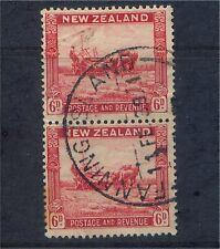 New Zealand GV 6d pair Cancelled Fanning Island, Gilbert & Ellice Islands