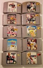 Pre-owne LOT OF 10 DIFFERENT NES NINTENDO SUPER NINTENDO N64 GAMES. (O-13#11-dm)
