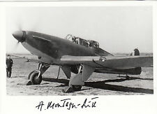 RAF Battle of Britain pilot MONTAGU-SMITH signed photo aircraft shot