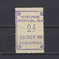 NEW REPUBLIC SOUTH AFRICA 1886, SG# 3, CV £28, Date '13 OCT 86', signed, MH