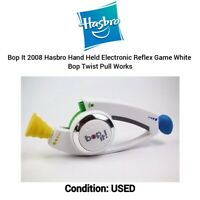 Bop It Classic Game Hasbro Gaming Electronic White Twist & Pull 2008 | TESTED