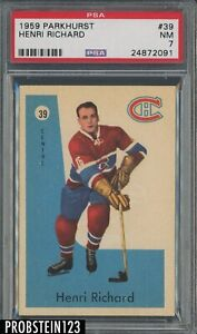 1959 Parkhurst Hockey #39 Henri Richard Montreal Canadiens PSA 7 NM