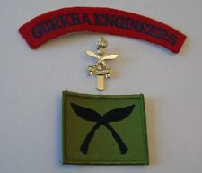 British Army Queen's Gurkha Engineers Cap Badge/Shoulder Title & Gurkha TRF