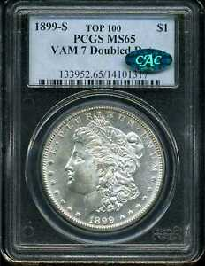 1899-S $1 Morgan Silver Dollar MS65 PCGS CAC 14101317 VAM-7 Doubled Date