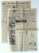 DAILY EXPRESS Crete 31 MAY 1941 - DAILY TELEGRAPH Russia Attacked 23 JUNE 1941