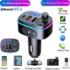 Bluetooth Car FM Transmitter Mp3 Play Fast Car Charger for iphone 12 Samsung S21