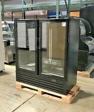 "New 54"" Stylish 2 Door Upright Refrigerator Model Gc480 Display Cooler Nsf Etl"