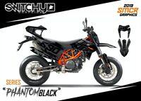 KIT ADESIVI GRAFICHE PHANTOM BLACK per moto KTM SMC-R 690 2019 DECALS DEKORE