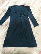 Beautiful PHASE EIGHT Long Puff Sleeves Rich Blue Tunic Dress-sz 8 VGC