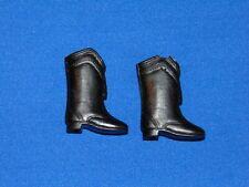 Vintage Barbie Fashion Feet Black Boots Black Squishy Majorette Boots