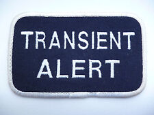 "UNKNOWN FLYING SUIT PATCH ""TRANSIENT ALERT"""