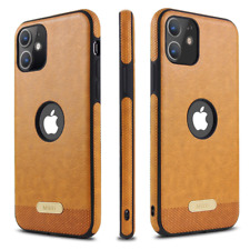 SLIM Luxury Leather Back Ultra Thin TPU Case Cover For Apple iPhone 11/ Pro/ Max