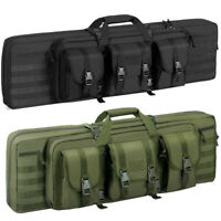 "36''46"" 2 Rifle Gun Carbine Bag Range Padded Pistol Carry Case Hunting Bag"