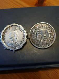 Antique Victorian Coin Brooches