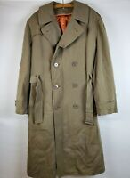 Vintage 1950s Military Army Long WOOL Trench Coat Jacket Size 42x1