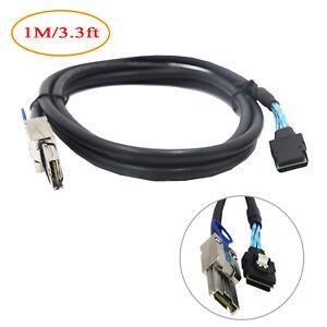 Mini SAS SFF-8087 36 Pin to SFF-8088 Mini SAS 26Pin 1 Meter External Cable 3ft