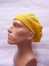 yellow man boy classic Fashion Crochet Beanie Hat Knit Beret Skull Cap hat