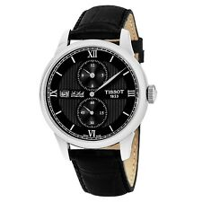 Tissot Men's Le Locle Black Dial Leather Strap Automatic Watch T0064281605802