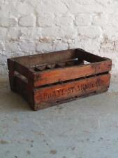 VINTAGE WOODEN FRENCH ABBAYE 24 BOTTLE CRATE 919