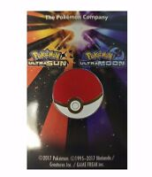 POKEMON ULTRA SUN & MOON LIMITED EDITION POKEBALL PIN BADGE - NEW & SEALED