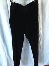 SOMA BLACK VELVET PANTS LEGGINGS XXL NWT