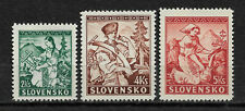 Slovakia 1939, Natioal Costumes, Crafts, Scott # 40-42,VF-XF MLH*OG (NS-1)