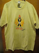 106.5 Weenie Roast 2005 Roadrunner Records Tour Concert T Shirt Large Yellow