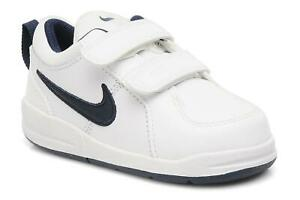 NIKE PICO GIRLS BOYS KIDS CHILDRENS ACTIVE CASUAL LEATHER WHITE BLACK TRAINERS