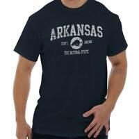 Vintage Arkansas Sports Team Pride Vacation Adult Short Sleeve Crewneck Tee