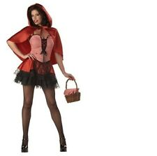 Ladies Sexy Little Red Riding Hood Costume Halloween Hen Party Fancy Dress