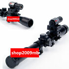 UK4x20 Air Gun Rifle Optics Scope +20mm Rail Mounts +Red Laser Sight For Hunting