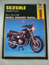 Suzuki GS850 GN GT GLT GX GLX GZ GLZ GD GLD GE 850 US & UK Shop Manual 1978-1988