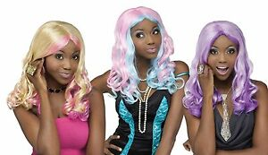 New Ombre Curls Wig by Fun World 3 Color Choices 92449 Costumania