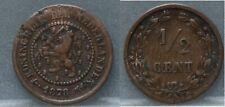 Nederland - The Netherlands halve cent 1878 -  1/2 cent 1978