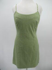P4373 VTG Women's A Byer Spaghetti Straps Plaid Mini Dress Size M