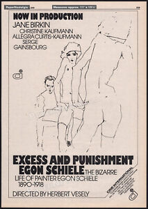 EGON SCHIELE: Excess and Punishment__Orig. 1979 Trade AD/ poster__Pencil artist