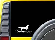 Longhair Dachshund Life K703 8 inch Sticker dachshund dog decal