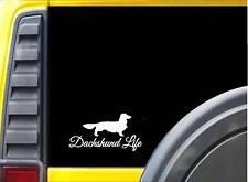 Longhair Dachshund Life K703 8 inch Sticker dachshund dog decal