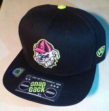 GEORGIA BULLDOGS FOOTBALL black/neon NCAA TOW Adjustable Snapback Hat Cap NWT$25