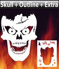 Skull 8 Airbrush Stencil Spray Vision Template air brush