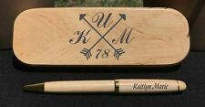 Arrow Monogram // Personalized Engraved Pen and Pen Box Set // Initials // Gift